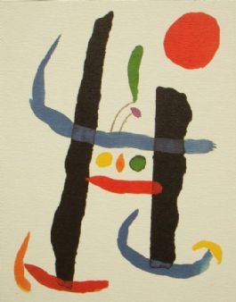 1998 Toute Epreuve abstract lithograph print; Joan Miro (Miró)